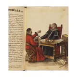 Venetian Clothing - a Lawyer and an Accountant Giclee Print by Jan van Grevenbroeck