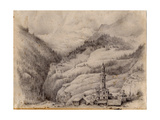 Tiefencastel, Switzerland, 1899 Giclee Print by Edward Adrian Wilson