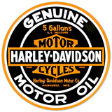 Harley-Davidson® - Oil Round Embossed Tin Sign Tin Sign