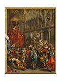 Doge Enrico Dandolo and the Leaders of the Crusade Swearing an Oath Giclee Print by Jean Leclerc