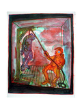Mr Punch Hangs Jack Ketch, 2008 Giclee Print by Phil Redford
