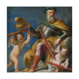 Worthiness Hands the Sceptre and the Corno Ducale to Francesco Morosini Giclee Print by Gregorio Lazzarini