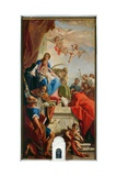 Madonna and Child with Saints Giclée-tryk af Sebastiano Ricci
