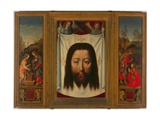 Triptych with Christ and the Woman from Samaria, the Shroud, and Noli Me Tangere Giclee Print by Fra Filippo Lippi