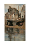 Boats and Cottages Giclee Print by Norman Garstin