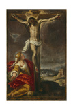 Crucifixion with Mary Magdalene Giclee Print by  Palma Il Giovane