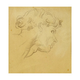 Study for the Head of Orpheus Giclee Print by George Frederick Watts