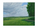 Wiltshire Landscape Above Urchfront, 2010 Giclee Print by Peter Breeden