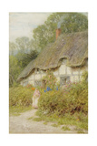 A Wiltshire Cottage Giclee Print by Helen Allingham