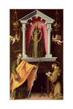 The Madonna of Loreto with Saint Paul and Saint Francis Giclée-Druck von Francesco Vanni