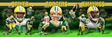 Green Bay Packers - Donald Driver, Aaron Rodgers, Greg Jennings Panoramic Photo Photo