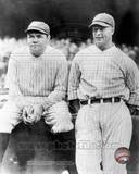 New York Yankees - Babe Ruth, Lou Gehrig Photo Photographie