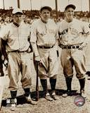 New York Yankees, Boston Red Sox - Babe Ruth, Lou Gehrig, Jimmie Foxx Photo Photographie