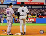 New York Yankees, New York Mets - Derek Jeter, David Wright Photo Photo