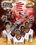 Philadelphia 76ers - Allen Iverson, Chris Webber, Kyle Korver, Samuel Dalembert, Andre Iguodala Pho Photo