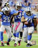 Detroit Lions - Chris Houston, Louis Delmas, Ndamukong Suh Photo Photo