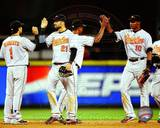 Baltimore Orioles - Brian Roberts, Nick Markakis, Adam Jones Photo Photo