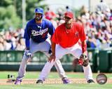 Los Angeles Angels, Los Angeles Dodgers - Albert Pujols, Matt Kemp Photo Photo