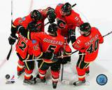 Calgary Flames - Alex Tanguay, Jarome Iginla, Olli Jokinen, Rene Bourque, Matt Giordano Photo Photo