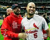 St Louis Cardinals - Albert Pujols, Jaime Garcia Photo Photo