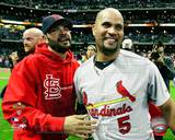 St Louis Cardinals - Albert Pujols, Jaime Garcia Photo Photo