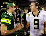 New Orleans Saints, Green Bay Packers - Drew Brees, Aaron Rodgers Photo Photo