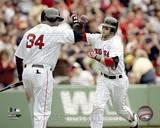 Boston Red Sox - David Ortiz, Dustin Pedroia Photo Photo