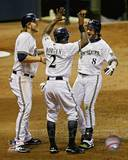 Milwaukee Brewers - Corey Hart, Nyjer Morgan, Ryan Braun Photo Photo