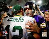 Minnesota Vikings, Green Bay Packers - Brett Favre, Aaron Rodgers Photo Photo