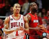 Miami Heat, Chicago Bulls - Dwyane Wade, Derrick Rose Photo Photo