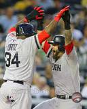 Boston Red Sox - David Ortiz, Mike Napoli Photo Photo