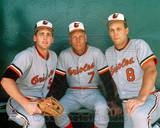 Baltimore Orioles - Cal Ripken Jr., Cal Ripken Sr., Billy Ripken Photo Photo