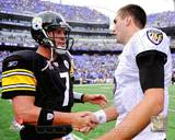 Pittsburgh Steelers, Baltimore Ravens - Ben Roethlisberger, Joe Flacco Photo Photo