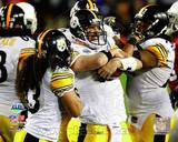 Pittsburgh Steelers - Ben Roethlisberger, Troy Polamalu, Darnell Stapelton Photo Photo