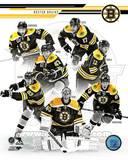Boston Bruins - Jarome Iginla, Zdeno Chara, Tuukka Rask, Brad Marchand, Patrice Bergeron, Milan Luc Photo