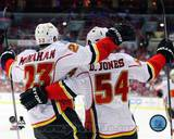 Calgary Flames - David Jones, Sean Monahan Photo Photo