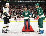 Minnesota Twins, Minnesota Wild, Boston Bruins - Joe Mauer, Mikko Koivu, Blake Wheeler Photo Photo