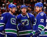 Vancouver Canucks - Daniel Sedin, Henrik Sedin, Alex Burrows Photo Photo