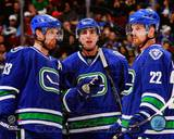 Vancouver Canucks - Daniel Sedin, Henrik Sedin, Alex Burrows Photo Photo