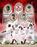 Boston Red Sox - Manny Ramirez, Jason Varitek, David Ortiz, Coco Crisp Photo Photo
