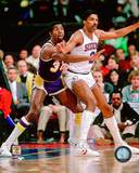 Los Angeles Lakers, Philadelphia 76ers - Magic Johnson, Julius Erving Photo Photo