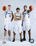 Minnesota Timberwolves - Ricky Rubio, Derrick Williams, Kevin Love Photo Photo