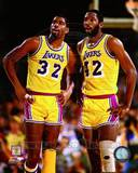 Los Angeles Lakers - Magic Johnson, James Worthy Photo Photo