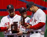 Boston Red Sox - Mike Lowell, Kevin Youkilis, Dustin Pedroia Photo Photo