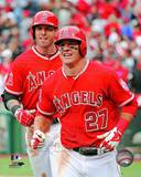 Los Angeles Angels - Josh Hamilton, Mike Trout Photo Photo