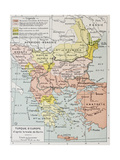 European Turkey After Treaty Of Berlin (1878) Old Map Posters by  marzolino