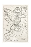 Ethiopia Old Map, From Gondar To Takeze River Prints by  marzolino
