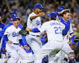 Los Angeles Dodgers - Nick Punto, Kenley Jansen, A.J. Ellis, Adrain Gonzalez Photo Photo