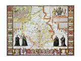 Cambridgeshire Old Map, From The Theatre Of The Empire Of Great Britain Posters by  marzolino