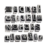 English Alphabet - A Collage Of 26 Isolated Letters In Grunge Letterpress Metal Type Block Prints by  PixelsAway